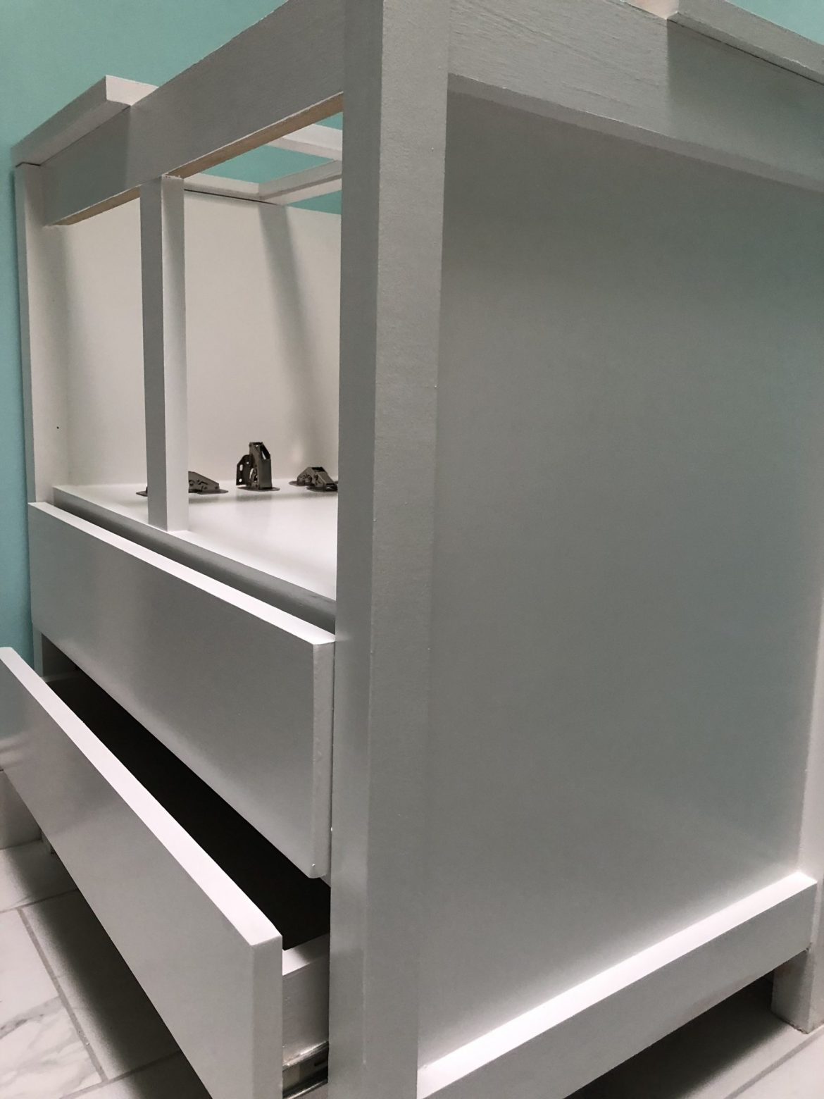 custom double bathroom vanity
